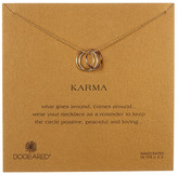 Dogeared 14K Yellow & Rose Gold Plated Sterling Silver Karma Pendant Necklace