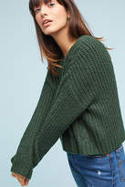 Line & Dot Cabled Scoop Neck Pullover