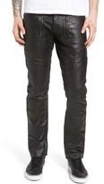 PRPS Men's Demon Slim Straight Coated Jeans