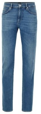 Slim-fit jeans in Italian cashmere-touch denim