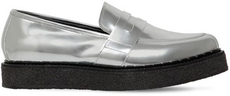 Penny Creeper Metallic Leather Loafers