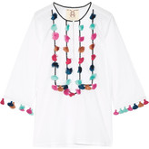 Figue Zita Tassled Cotton-voile Blouse - White