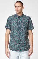 RVCA Top Poppy Short Sleeve Button Up Shirt