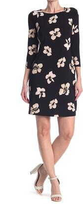 Tommy Hilfiger 3/4 Sleeve Jersey Knit Dress