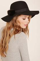 Forever 21 FOREVER 21+ Pom-Pom Floppy Felt Hat