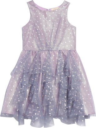 Hannah Banana Shimmer Dot Party Dress