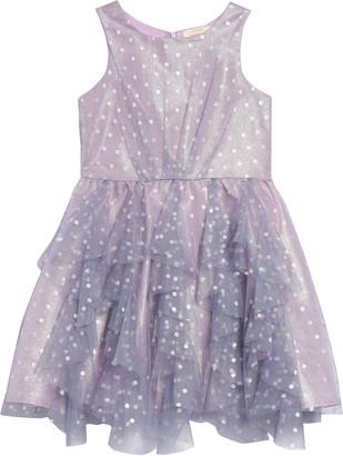 Hannah Banana Shimmer Dot Party Dress