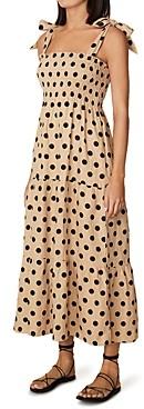 Faithfull The Brand Rianne Linen Printed Midi Dress
