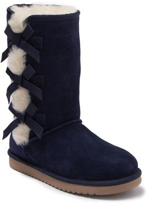 Koolaburra By Ugg Victoria Tall Genuine Dyed Shearling Trim & Faux Fur Boot