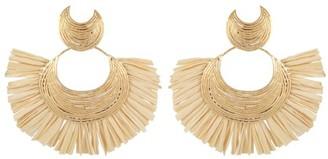 Gas Bijoux Luna Wave raffia Earrings