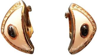Christian Dior Beige Metal Earrings