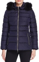 ADD Mid-Length Fur Trim Puffer Down Coat