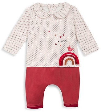 Catimini Baby Girl's 2-Piece Peter Pan Collar & Velvet Pant Set