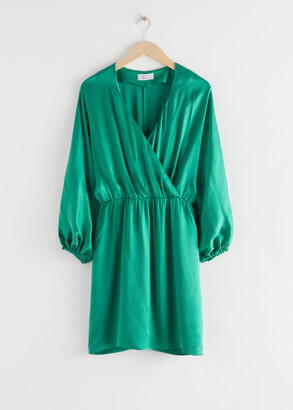 And other stories Voluminous Sleeve Mini Dress
