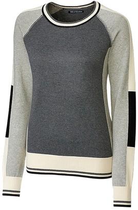 Cutter & Buck Women's Soft Jersey Cotton Ragan Sleeve Stride Colorblock Sweater