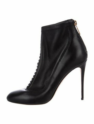 Dolce & Gabbana Leather Lace-Up Boots Black