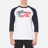 Billionaire Boys Club Men's Script Logo Raglan TShirt - White