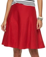Chaps Women's Solid A-Line Skirt