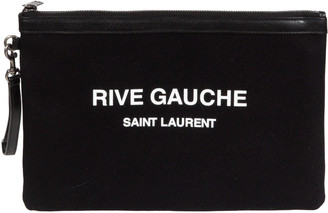 Saint Laurent Top Zip Printed Clutch