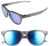 Oakley Women's Stringer 55Mm Sunglasses - Grey Smoke/ Violet Iridium