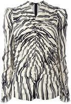 Marni ruched Trellis print blouse