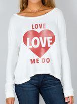 Junk Food Clothing Love Love Me Do Fleece -elecw-xs