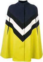 MSGM colour-block tailored coat