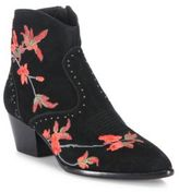 Ash Heidi Floral-Embroidered Suede Boots