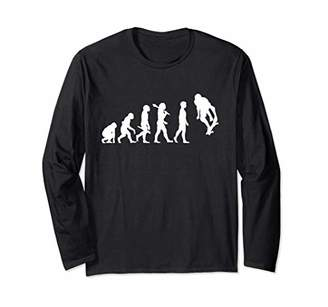Skateboarding Evolution Halfpipe Skateboard Skater Long Sleeve T-Shirt