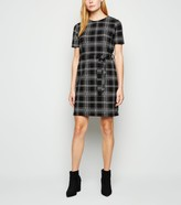 New Look Check Belted Tunic Dress