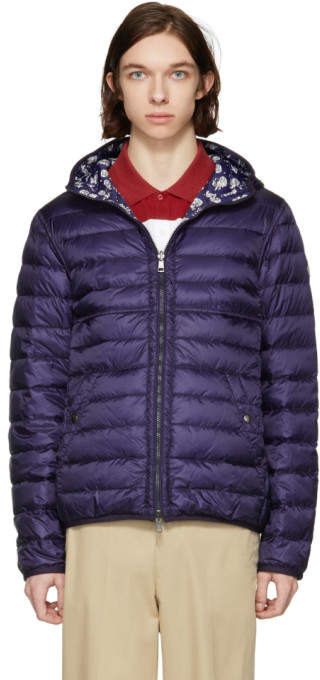 Moncler Reversible Navy Down Oise Jacket