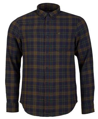 Lee Sustainable Button Down Check Shirt Colour: BOTTLE GREEN, Size: ME