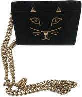 Charlotte Olympia Black Suede Clutch bags