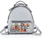 Fendi Multicolor Studded Leather Backpack