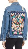 Sunset & Spring Embroidered Back Denim Jacket - 100% Exclusive