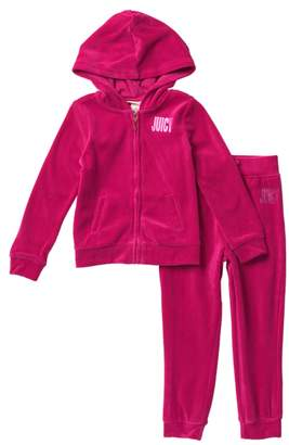 Juicy Couture Velour Hoodie & Joggers Set (Toddler Girls)