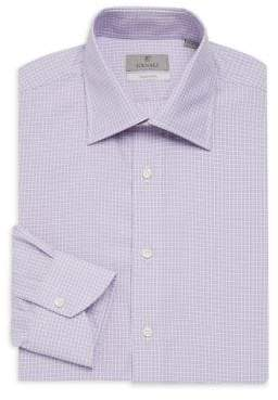 Canali Graph Check Dress Shirt