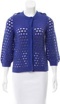 See by Chloe Open Knit Crew Neck Cardigan