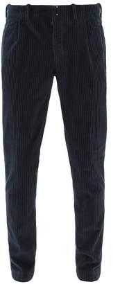 Incotex Verve Corduroy Slim Fit Trousers - Mens - Navy