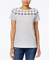Tommy Hilfiger Fiona Printed T-Shirt, Only at Macy's