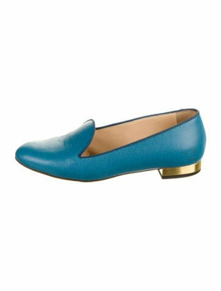 Charlotte Olympia ABC Flats Leather Loafers w/ Tags Blue