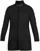 Giorgio Armani High-neck Shearling Coat