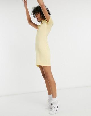 Lacoste logo polo dress in yellow