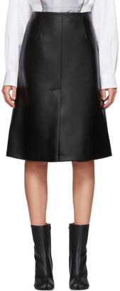 Maison Margiela Black Faux-Leather Skirt