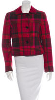 Akris Punto Cropped Plaid Coat