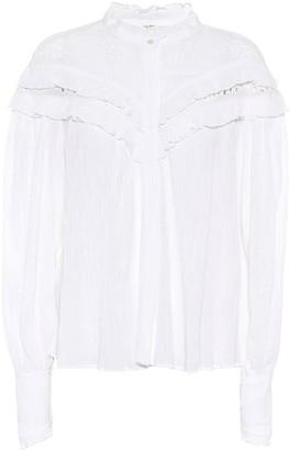 Etoile Isabel Marant Izae cotton-blend blouse