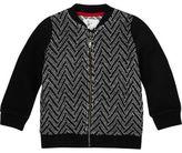 River Island Mini boys black zig zag knit bomber jacket