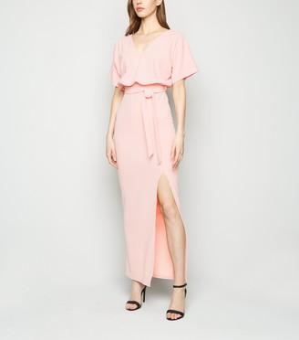 New Look Belted Side Split Maxi Dress