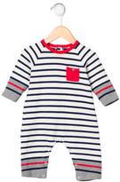 Petit Bateau Boys' Striped Rib Knit All-In-One