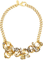 Erickson Beamon Ringtone Gold-plated Swarovski Crystal Necklace - one size